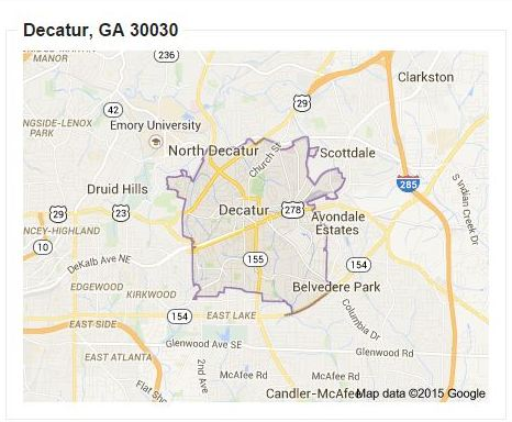 North Atlanta Home Team Look At Decatur Ga Zip Code Maps And Real