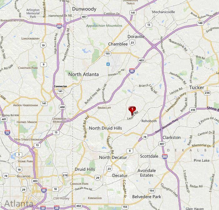 Decatur Georgia Map Oak Grove Location