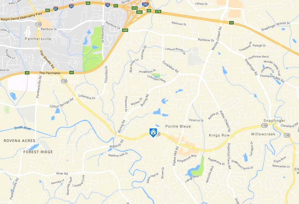 Decatur Georgia Map Location Hancock Heights Community